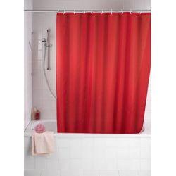 Zasłona prysznicowa, tekstylna, kolor czerwony, 180x200 cm, WENKO