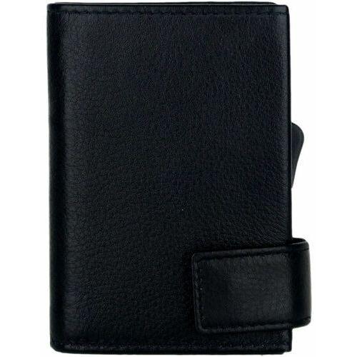 Etui i pokrowce, SecWal SecWal 2 Kreditkartenetui Geldbörse RFID Leder 9 cm schwarz