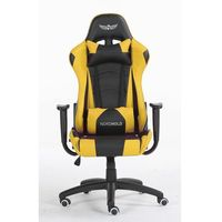 Fotele dla graczy, Obrotowy fotel gamingowy NORDHOLD - YMIR - żółty
