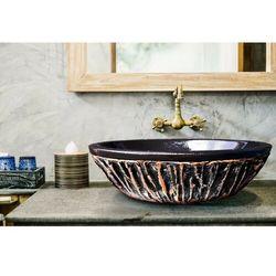 BLACK SHELL - nablatowa umywalka artystyczna ręcznie wykończona rabat 40%