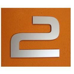 CYFRA 2 NUMER NA DOM, DRZWI wys. 15 cm Alucobond M