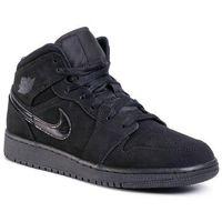 Obuwie sportowe dziecięce, Buty NIKE - Air Jordan 1 Mid 554725 056 Black/Black/Black