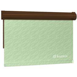 Mini Roleta w KASECIE aqua (żakardowa) - Light Green / Brązowy