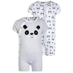 mothercare UNISEX PANDA ROMPERS BABY 2 PACK Kombinezon black/white