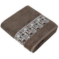 Ręczniki, Bellatex Ręcznik kąpielowy Kamienie brązowy, 70 x 140 cm, 70 x 140 cm