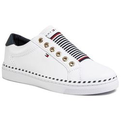 Sneakersy TOMMY HILFIGER - Tommy Elastic Cty Sneaker FW0FW04783 White YBS