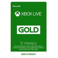 Klucze i karty przedpłacone, Subskrypcja Xbox Live Gold (12 m-cy) [kod aktywacyjny]