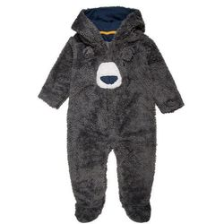 mothercare BOYS FLUFFY BEAR LITTLE CRAFTS BABY Kombinezon blue