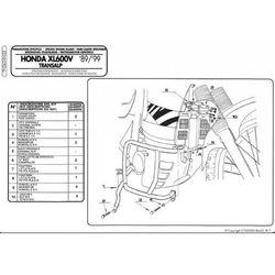 Kappa KN22 Gmole Honda Xl 600 V Transalp (89-99)