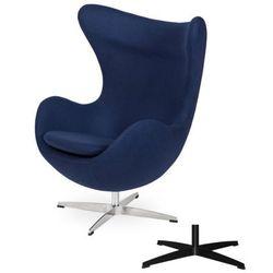 Fotel Jajo EGG CLASSIC - 3 kolory nóżek - wełna - Atlantycki niebieski