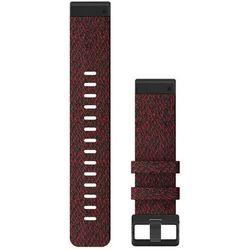 Garmin pasek fenix 6 22mm QuickFit Heathered Red Nylon Band 010-12863-06 (fioletowo-czerwony)