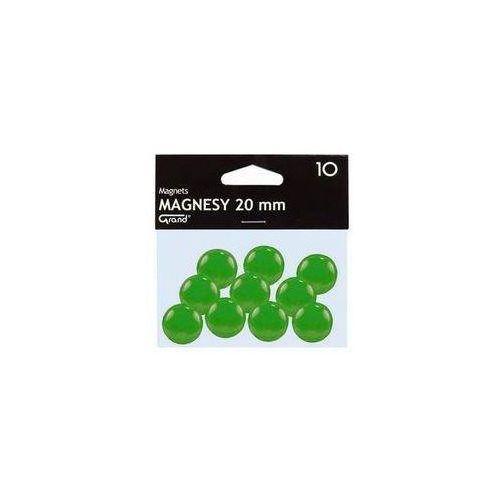 Pozostałe artykuły szkolne, Magnesy 20 mm zielone 10 sztuk