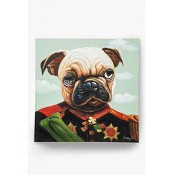 KARE Design:: Obraz olejny Little General Pug 100x100cm