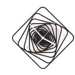 Drewniany zegar na ścianę Kwadratowe spirale z białymi wskazówkami Dekoracje drewniane na ścianę (-10%)