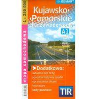 Mapy i atlasy turystyczne, Kujawsko-Pomorskie dla zawodowców TIR mapa samochodowa 1:250 000 (opr. miękka)