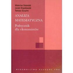 Analiza matematyczna podręcznik dla ekonomistów (opr. broszurowa)