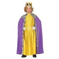 Przebrania dziecięce, Kostium Król fioletowo-złoty dla chłopca - 5-6 lat