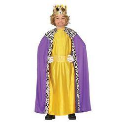 Kostium Król fioletowo-złoty dla chłopca - 5-6 lat