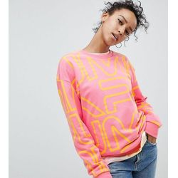 Puma Exclusive To ASOS Sweatshirt With All Over Logo In Pink - Pink