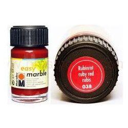 Farba do marmurkowania Easy Marble Marabu 15 ml - 038 Rubinrot