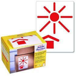 Ostrzegawcze etykiety wysyłkowe Avery Zweckform CHRONIĆ PRZED PRZEGRZEWANIEM 74x100mm