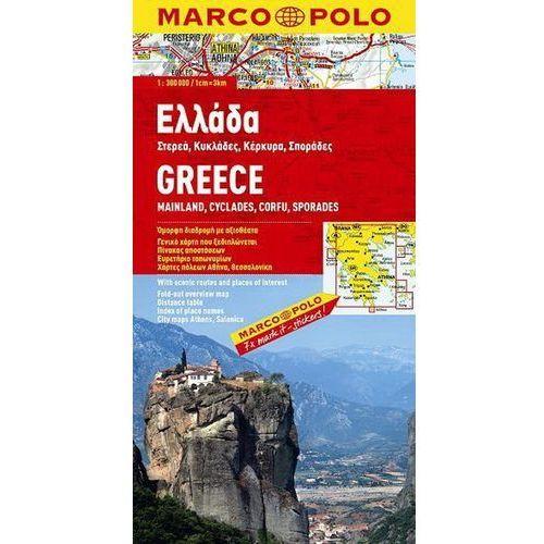 Mapy i atlasy turystyczne, Grecja 1:300 000 - mapa Marco Polo (opr. broszurowa)