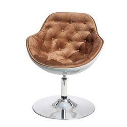 Fotel wypoczynkowy Ottav - brązowo - biały