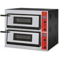 Piece i płyty grzejne gastronomiczne, Piec do pizzy 2-komorowy 14400W | 12x Ø 30cm | 400V