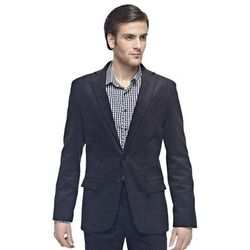 Granatowy sztruksowy garnitur męski DALLAS szyty na miarę