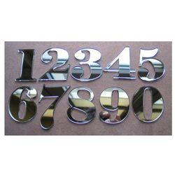 Numer, Numery na Drzwi z pleksi lustro wys 5,5 cm