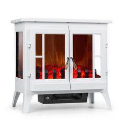 Klarstein Innsbruck kominek elektryczny 1000/2000W termostat biały