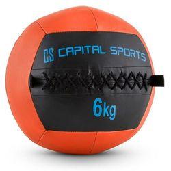 Capital Sports Wallba 6 Piłka Wall Ball 6kg sztuczna skóra pomarańczowa