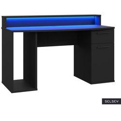 SELSEY Biurko gamingowe z oświetleniem LED Cosentini