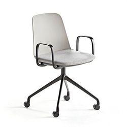 Krzesło LANGFORD, podstawa na kółkach, szary