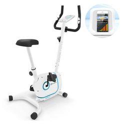 KLARFIT Myon Cycle rower treningowy trenażer domowy masa zamachowa 12kg SmartCardio studio czarny