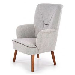 Skandynawski fotel wypoczynkowy Dylan - Jasny popiel