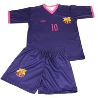 Piłka nożna, Komplet piłkarski Replika Messi 10 fiolet