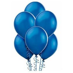 Balony lateksowe metaliczne średnie - niebieskie - 25 szt.