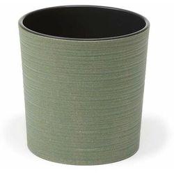 Doniczka plastikowa 19 cm zielona MALWA