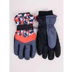 Rękawiczki narciarskie damskie czarne z pomarańczowymi akcentami 18