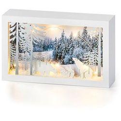 Dekoracyjna ramka LED z niedźwiadkami polarnymi bonprix biały
