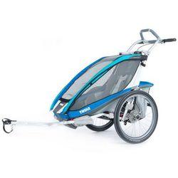 Thule Chariot CX 1 Bike Trailer With Bike Set, blue 2019 Przyczepki dla dzieci Przy złożeniu zamówienia do godziny 16 ( od Pon. do Pt., wszystkie metody płatności z wyjątkiem przelewu bankowego), wysyłka odbędzie się tego samego dnia.