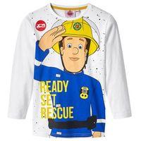 """Koszulki z krótkim rękawkiem dziecięce, Shirt chłopięcy z długim rękawem """"Strażak Sam"""" bonprix biały z nadrukiem"""