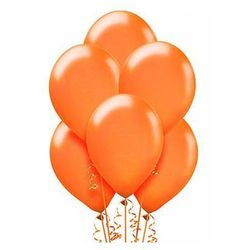 Balony lateksowe metaliczne średnie - pomarańczowe - 25 szt.