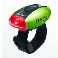 Oświetlenie rowerowe, Sigma Lampka rowerowa Micro Tylna - Zielona