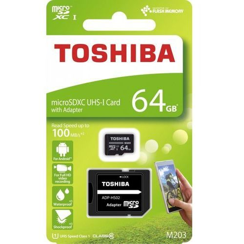 Karty pamięci, Karta pamięci z adapterem MicroSDXC Toshiba 64GB Class 10 THN-M203K0640EA