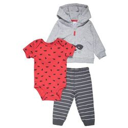 Carter's BOY RACOON POCKETS BABY SET Body heather