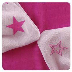 XKKO chusteczki bambusowe Stars 30x30 cm, 9 szt 28 x 39 cm Pink