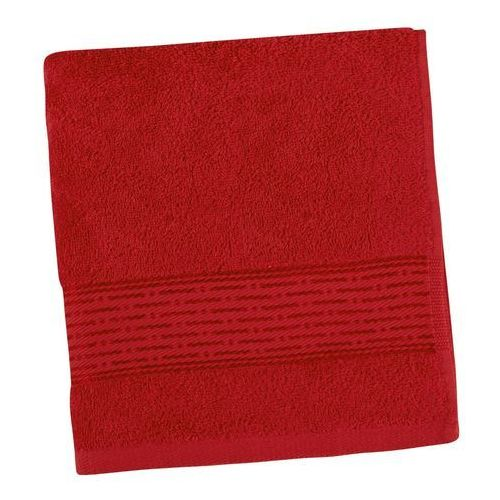 Ręczniki, Ręcznik Kamilka Pasek czerwony, 50 x 100 cm