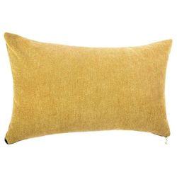Uniwersalna, praktyczna poduszka dekoracyjna, w kolorze złotym, o wymiarach 50x30 cm, ze zdejmowaną poszewką zapinaną na suwak